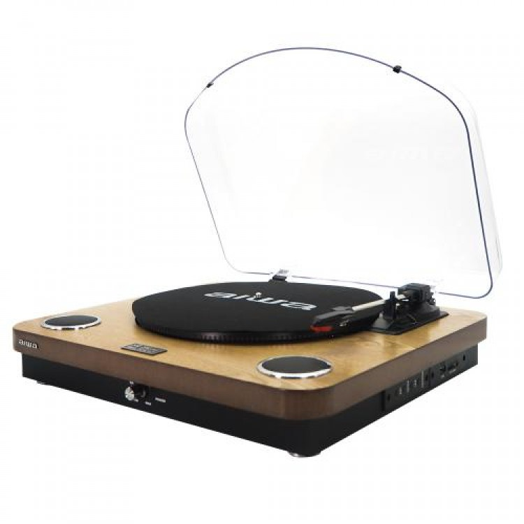 AIWA FM/USB 10W Turntable WOOD | 410008