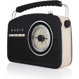 AKAI Retro Portable Radio BLACK   A60010V
