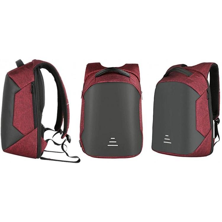 AQUARIUS Advance Anti Theft Back Pack Laptop Bag RED | 381863