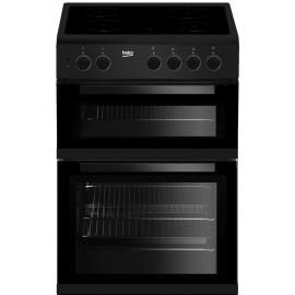 BEKO 60cm Freestanding Electric Cooker BLACK   KTC611K