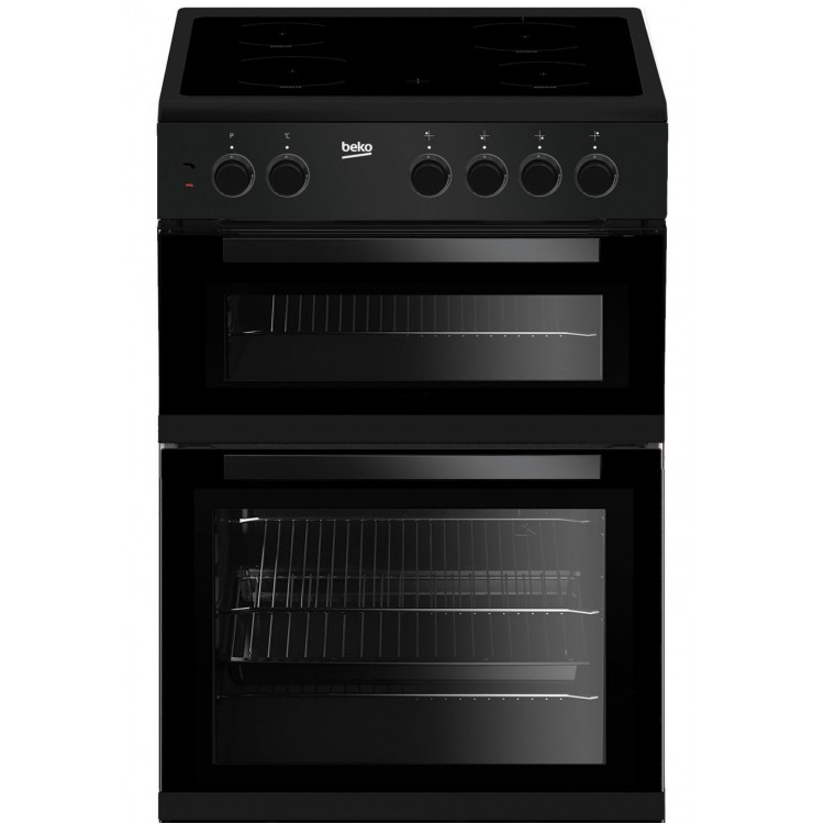 BEKO 60cm Freestanding Electric Cooker BLACK | KTC611K