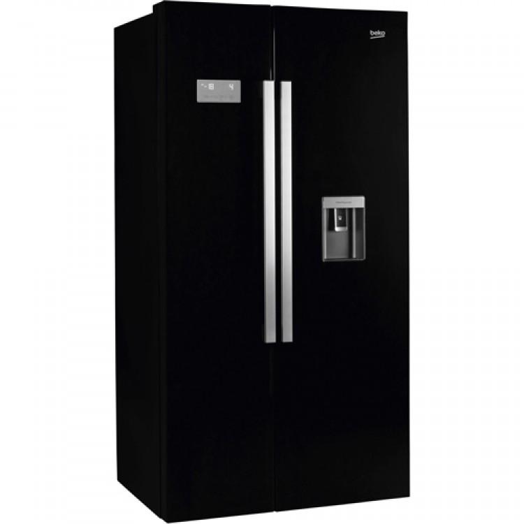BEKO Freestanding American Style Fridge Freezer BLACK | ASD241B