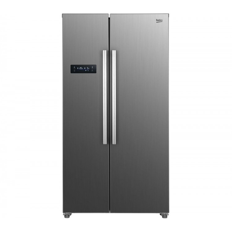 BEKO American Style Fridge Freezer BRUSHED STEEL | ASL1331PX