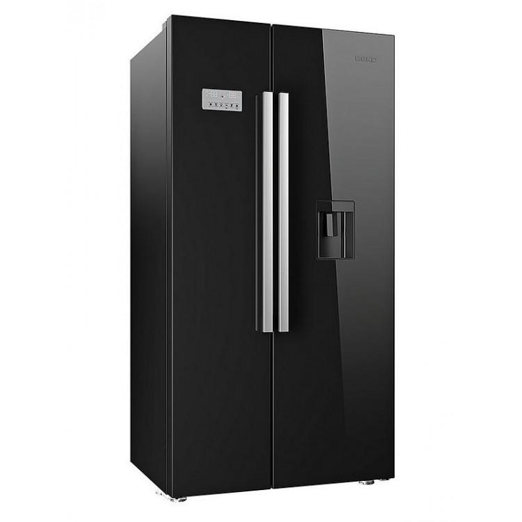 BEKO American Style Freestanding Fridge Freezer BLACK | ASD2341VB