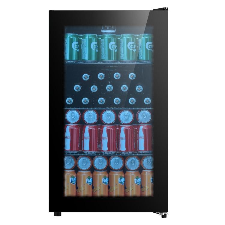 BELLING 480mm Wide Glass Beverage Cooler   BDC76BLK
