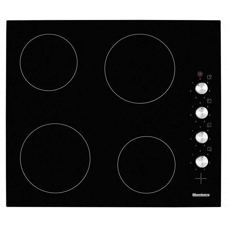 BLOMBERG 60cm Side Control Ceramic Hob With Black Glass Fascia | MKN24001