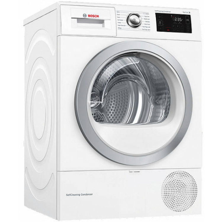 BOSCH Serie 6 WiFi-enabled 9 kg Heat Pump Tumble Dryer WHITE | WTWH7660GB