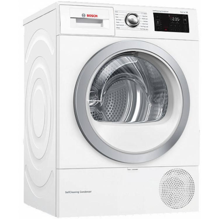 BOSCH Serie 6 WiFi-enabled 9 kg Heat Pump Tumble Dryer WHITE | WTWH7660GB
