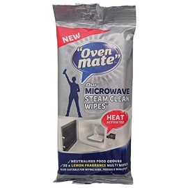 Oven Mate Microwave Steam Clean Cleaning Cloths 25pk | 421148