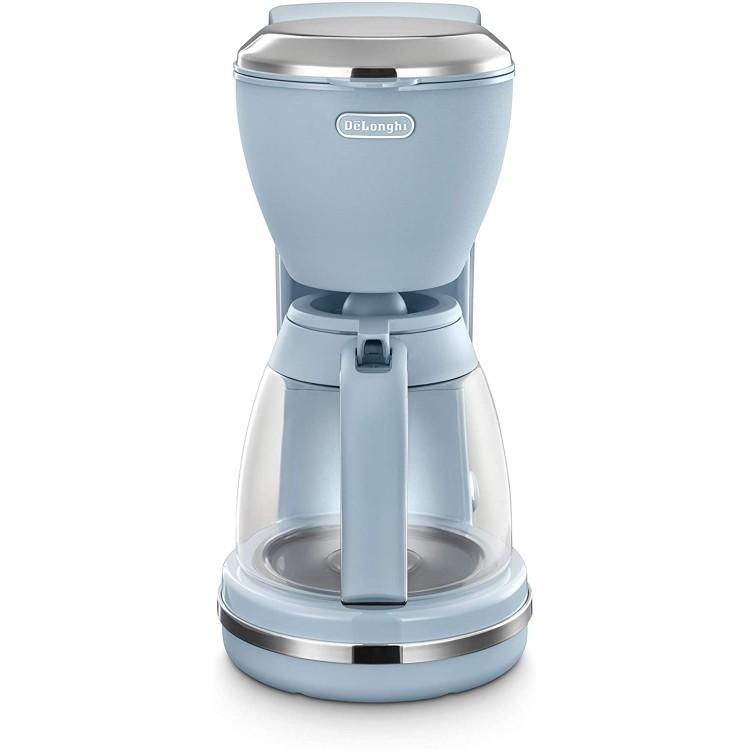 De'Longhi Argento Flora Coffee Machine 1.25L | ICMX210.AZ