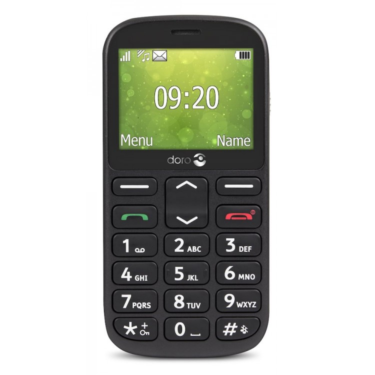 """DORO 1360 2.4"""" 8MB Mobile Phone BLACK   1009500"""