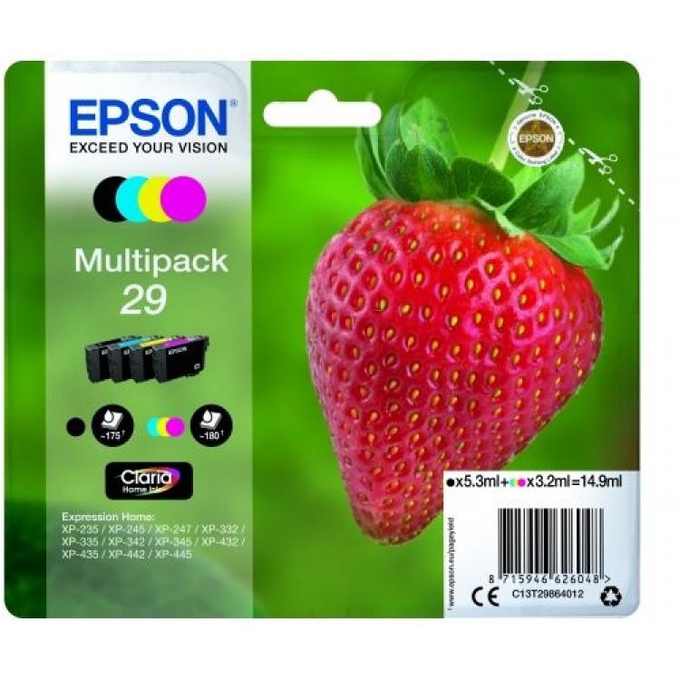 EPSON C13 Multipack (4) Ink Cartridge Mono & Colour | T29864012