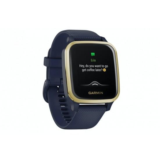 GARMIN Venu SQ Music Edition Smart Watch NAVY/LIGHT GOLD | 405935