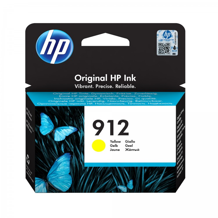 HP 912 Ink cartridge 300 pages YELLOW   3YL79AE