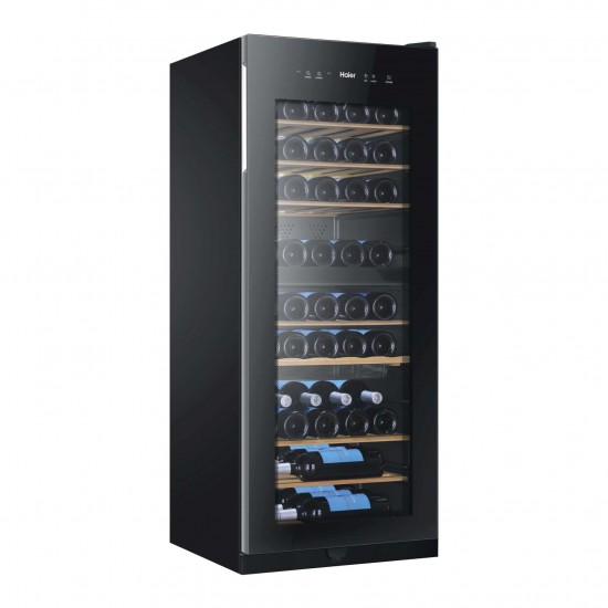 HAIER 53 Bottle Dual Temp Wine/Drinks Cooler BLACK | WS53GDA