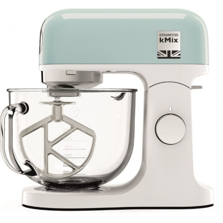 KENWOOD kMix 1000W Stand Mixer with Glass Bowl PASTEL BLUE   KMX754PB