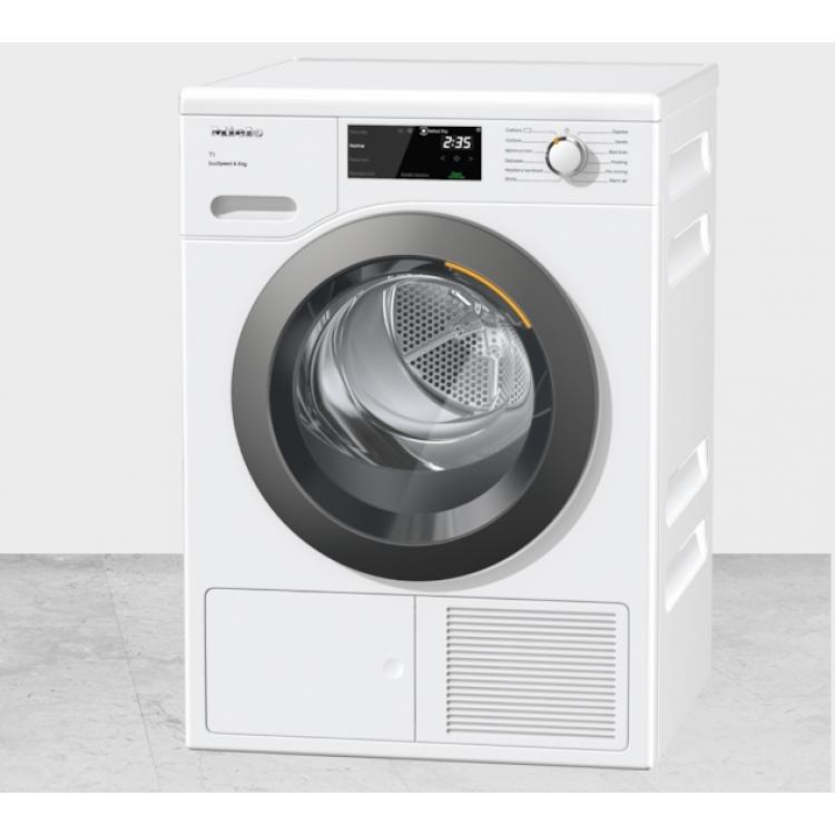 Miele 8kg T1 Heat Pump Tumble Dryer EcoSpeed WHITE | TCF640