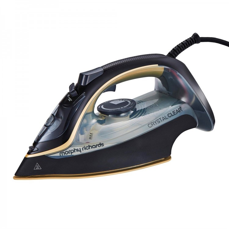 MORPHY RICHARDS Crystal Clear Gold 35g Steam Output Steam Iron | 377515