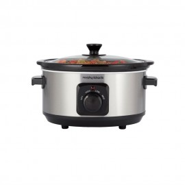 MORPHY RICHARDS Brushed Stainless Steel 3.5L Ceramic Slow Cooker | 414231
