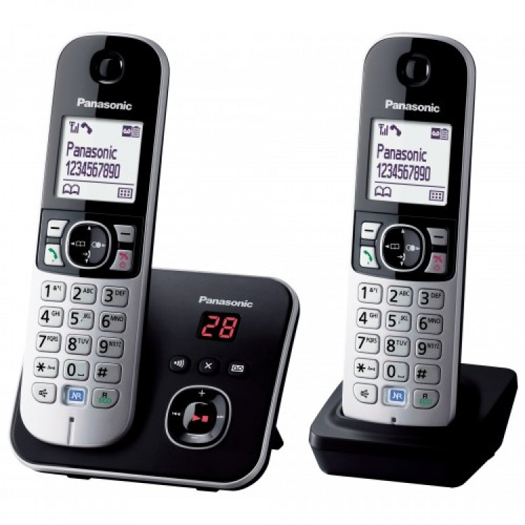 Panasonic Dect Phone Twin Pack with Digital Answering Machine | KX-TG6802EB