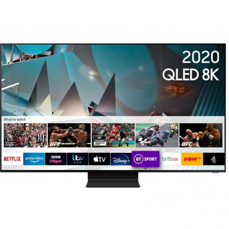 """SAMSUNG 65"""" 8K Ultra Sharp HD HDR10+ Smart QLED TV   QE65Q800TAT"""
