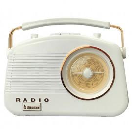 Steepletone Brighton Retro Radio WHITE/COPPER | 395178