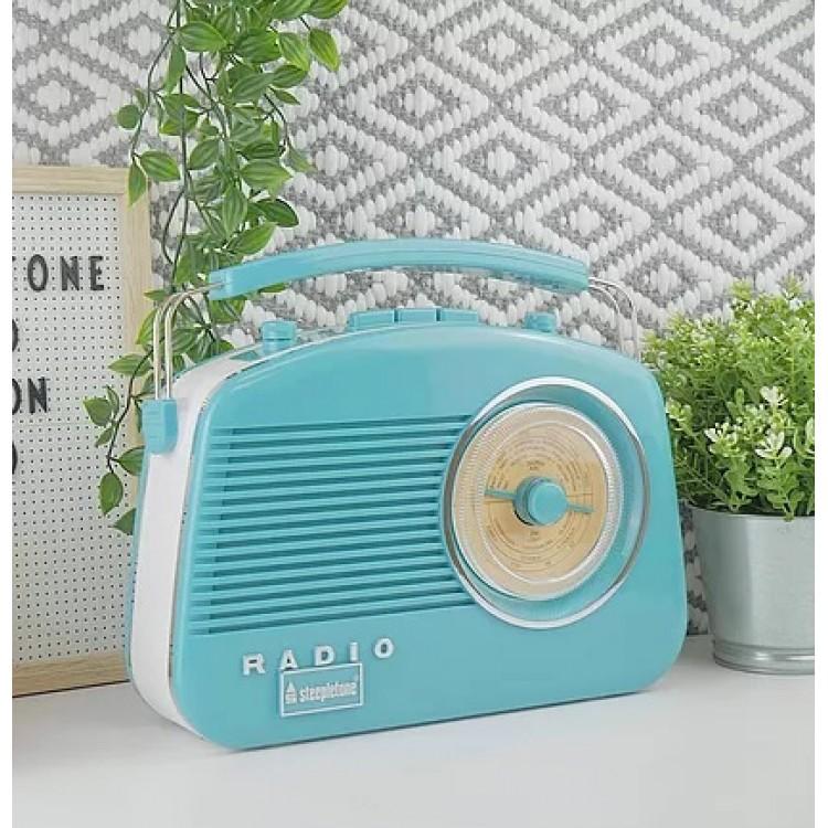 STEEPLETONE Brighton Retro Radio DUCK EGG BLUE | 395201