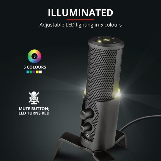TRUST GXT 258 Fyru USB 4-in-1 Streaming Microphone | T23465