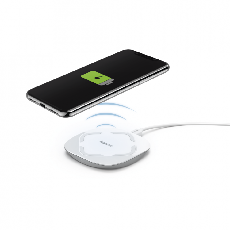 Hama QI-FC 10 Wireless Charger for Smartphones White | 00178976