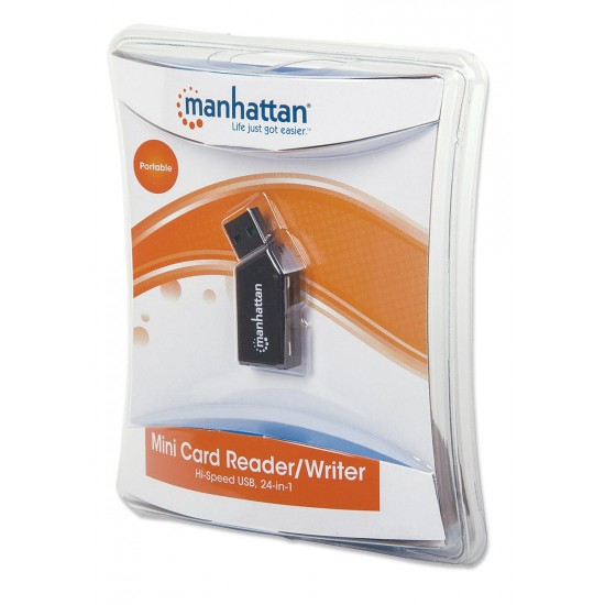 Manhattan Mini USB 2.0 Multi-Card Reader/Writer 101677