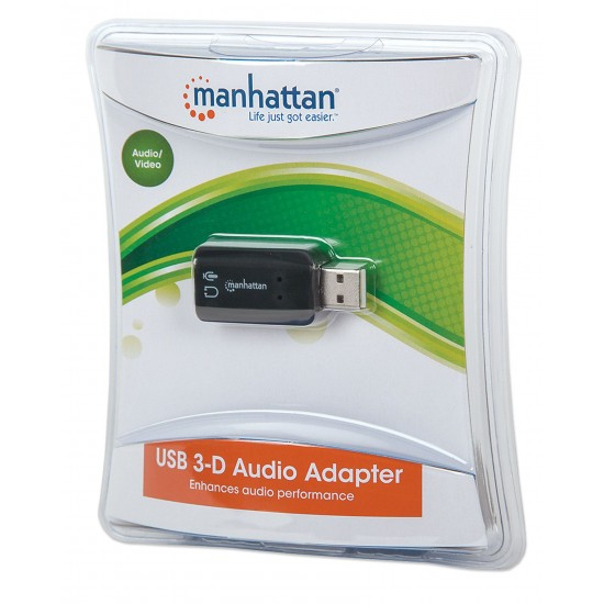 Manhattan 150959 Hi-Speed ​​USB 3D Sound Adapter