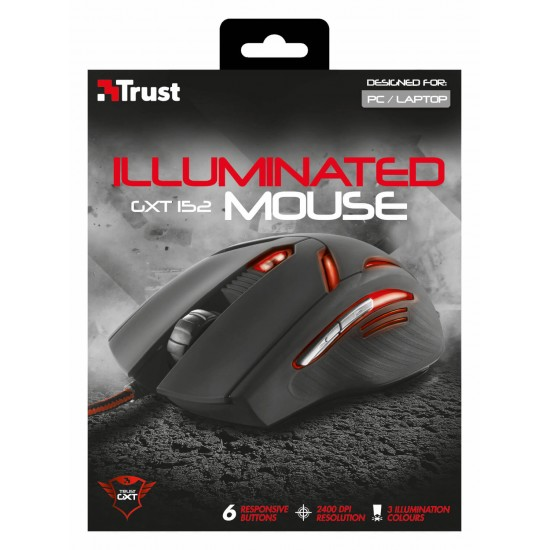 Trust GXT 152 Illuminated Gaming Mouse 19509