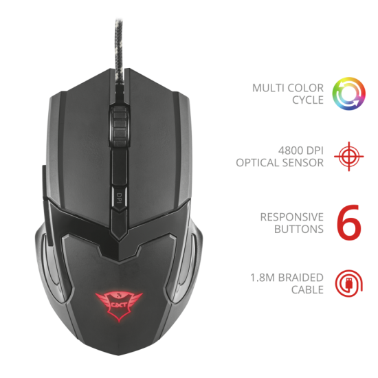 Trust GXT 101 Gav Optical Gaming Mouse | 21044