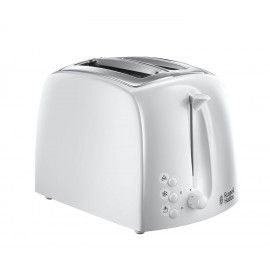 Russell Hobbs Textures White 2 Slice Plastic Toaster   21640