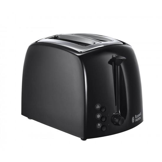 Russell Hobbs Textures Black 2 Slice Plastic Toaster | 21641