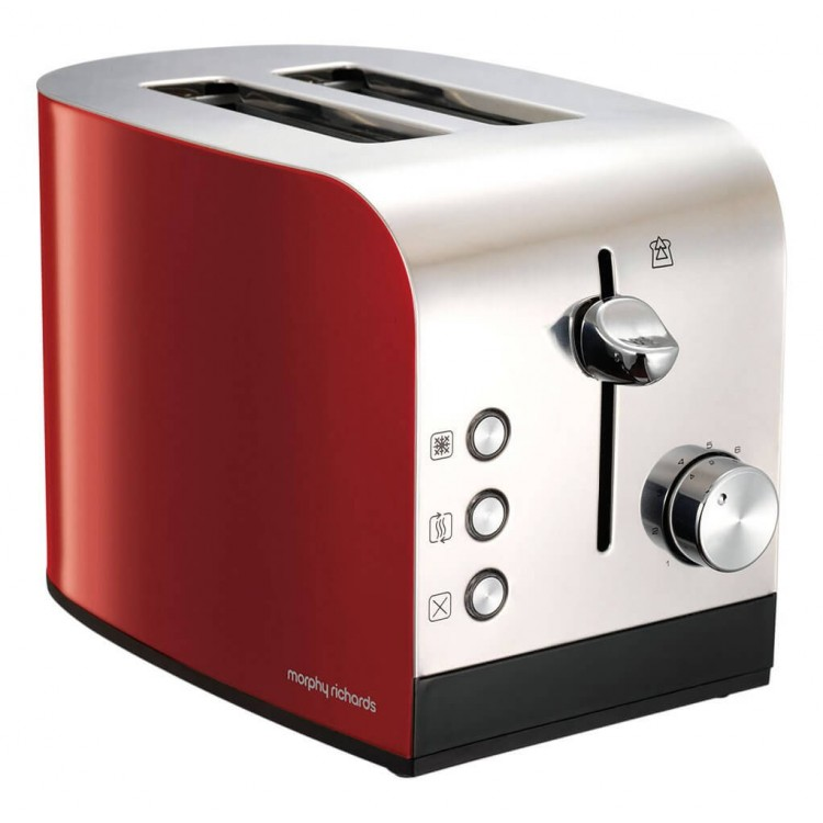 Morphy Richards Equip Red 2 Slice Toaster   222053