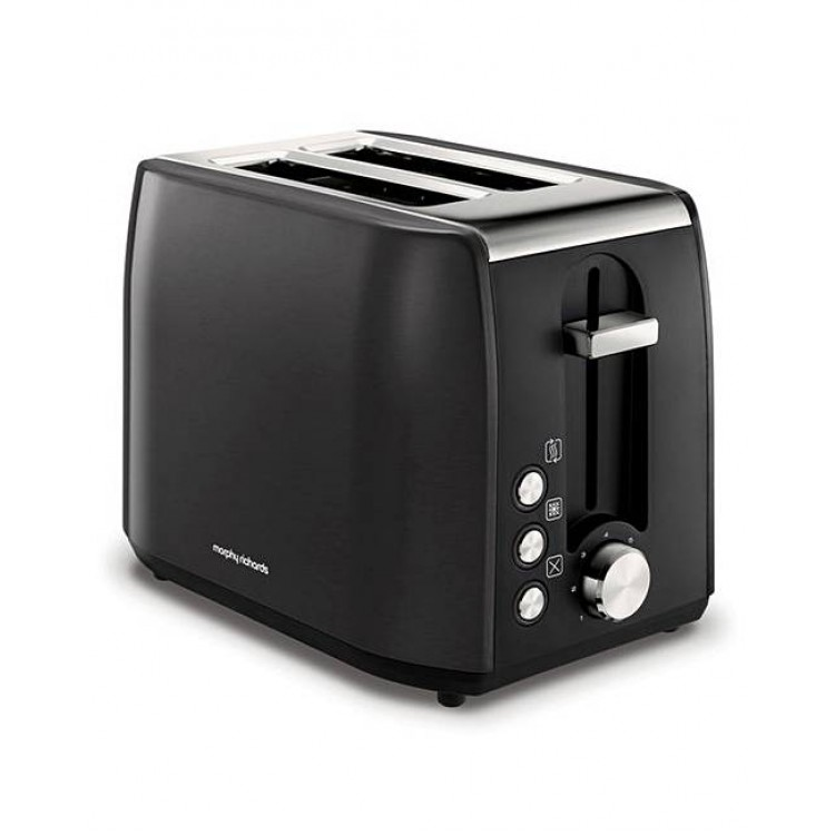 Morphy Richards Equip Black Pearl Stainless Steel 2 Slice Toaster   222058