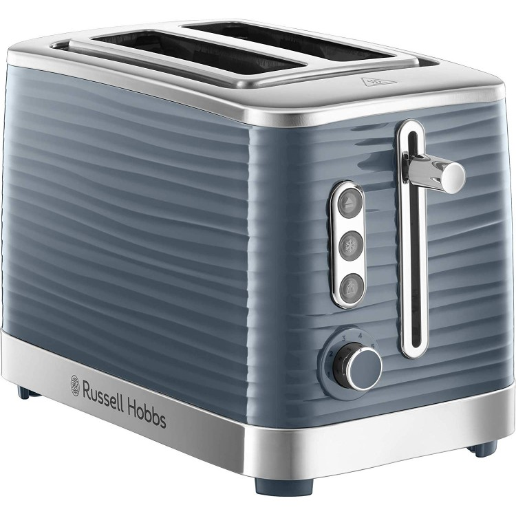 Russell Hobbs Inspire Grey 2 Slice Toaster | 24373