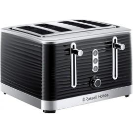 Russell Hobbs Inspire Black 4 Slice Toaster   24381