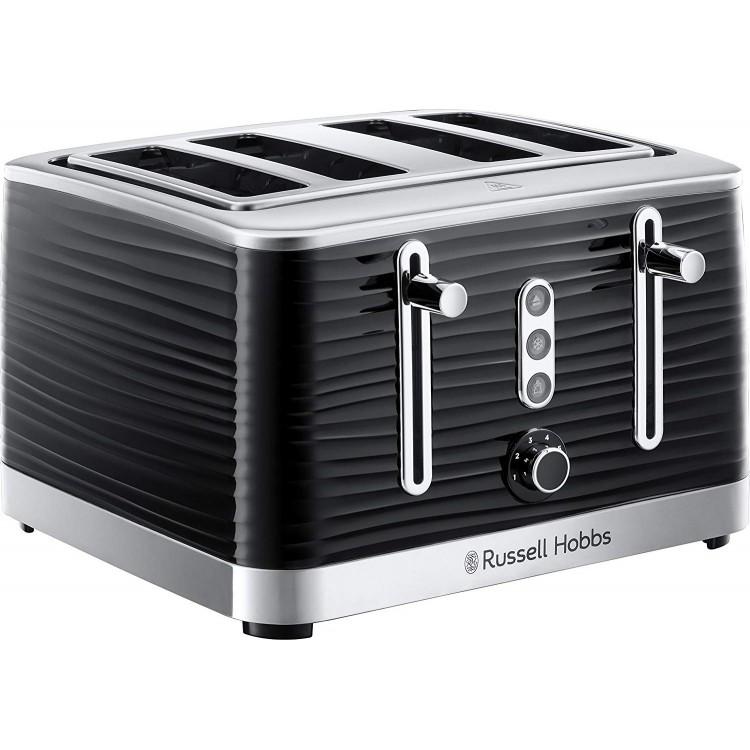 Russell Hobbs Inspire Black 4 Slice Toaster | 24381