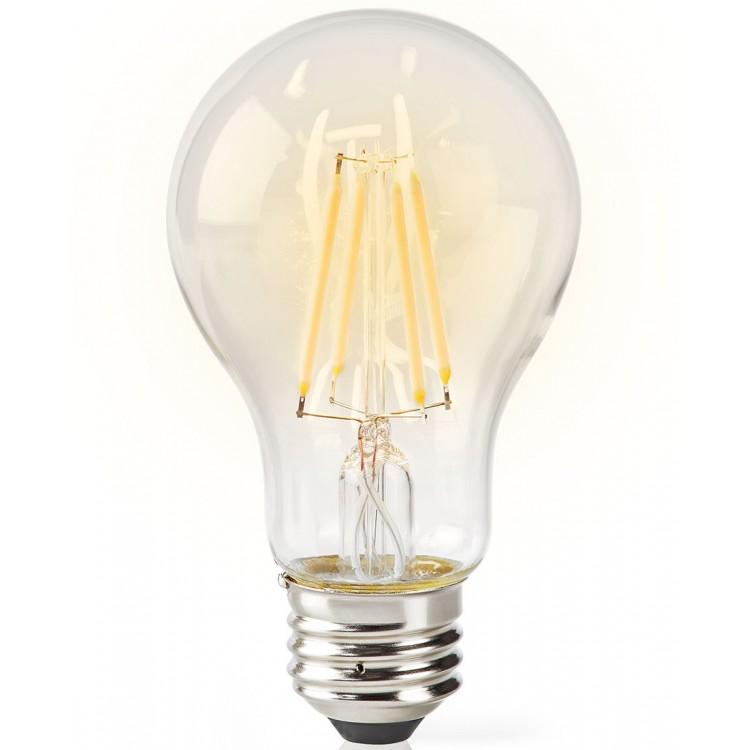 Nedis Wi-Fi Smart LED Filament Bulb E27 A60 5W 500 lm Clear | 303724