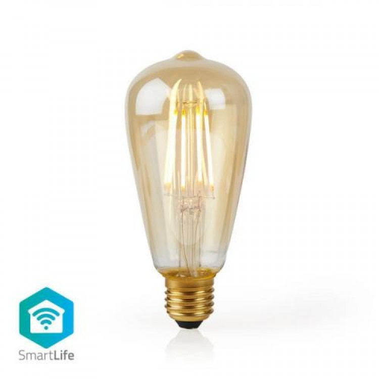 Nedis Wi-Fi Smart LED Filament Bulb E27 ST64 5W 500 lm | 306190