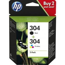 HP 304 2-pack Black/Tri-color Original Ink Cartridges   3JB05AE