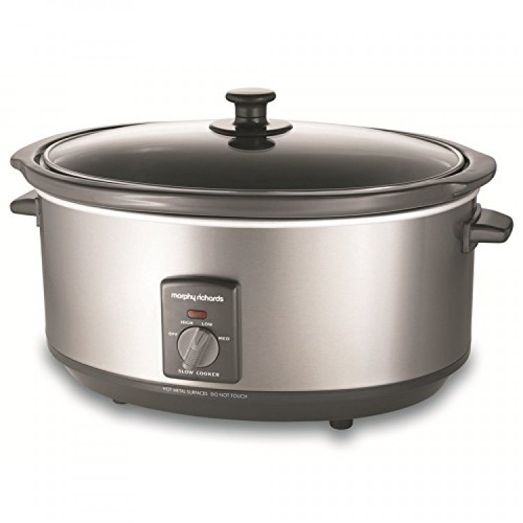 Morphy Richards 6.5L Oval Stainless Steel Slow Cooker | 48718