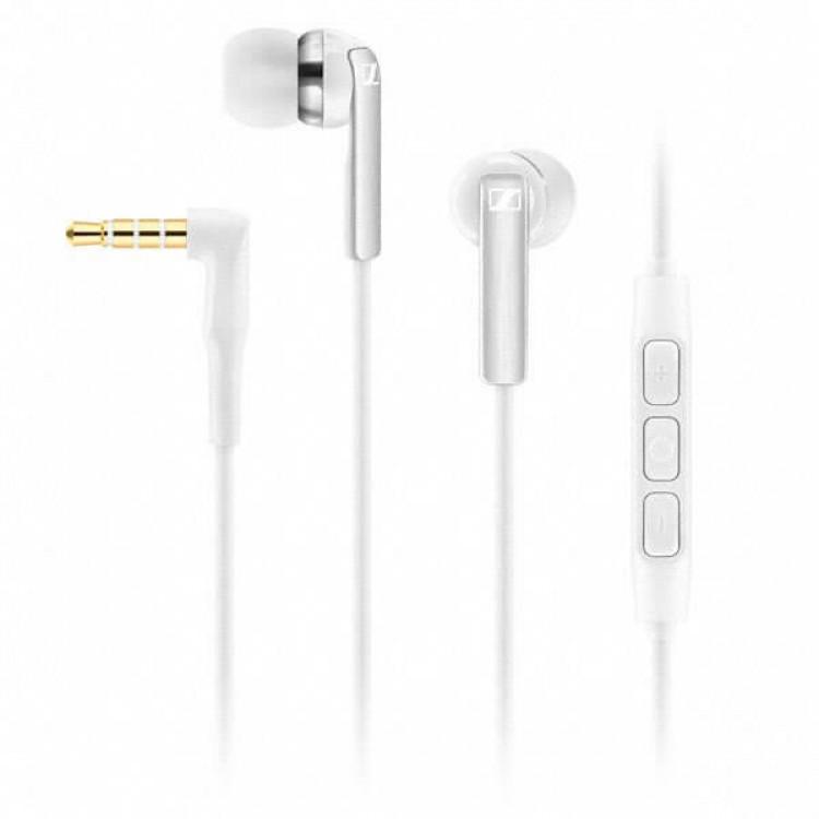 Sennheiser CX 2.00i In Ear Headphones (integrated smart remote & mic) White - 506093