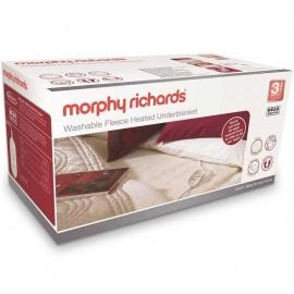 Morphy Richards Washable Fleece Heated Underblanket Single   600011