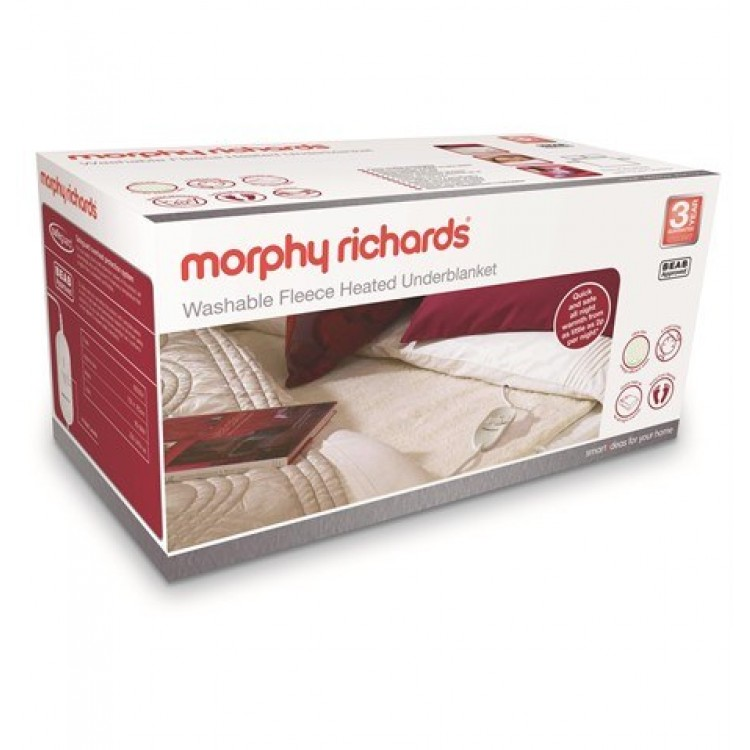 Morphy Richards Washable Fleece Heated Underblanket King Dual Control | 600014