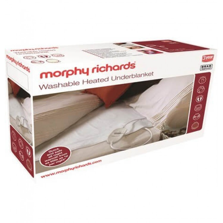 Morphy Richards Washable Heated Underblanket Single | 600113