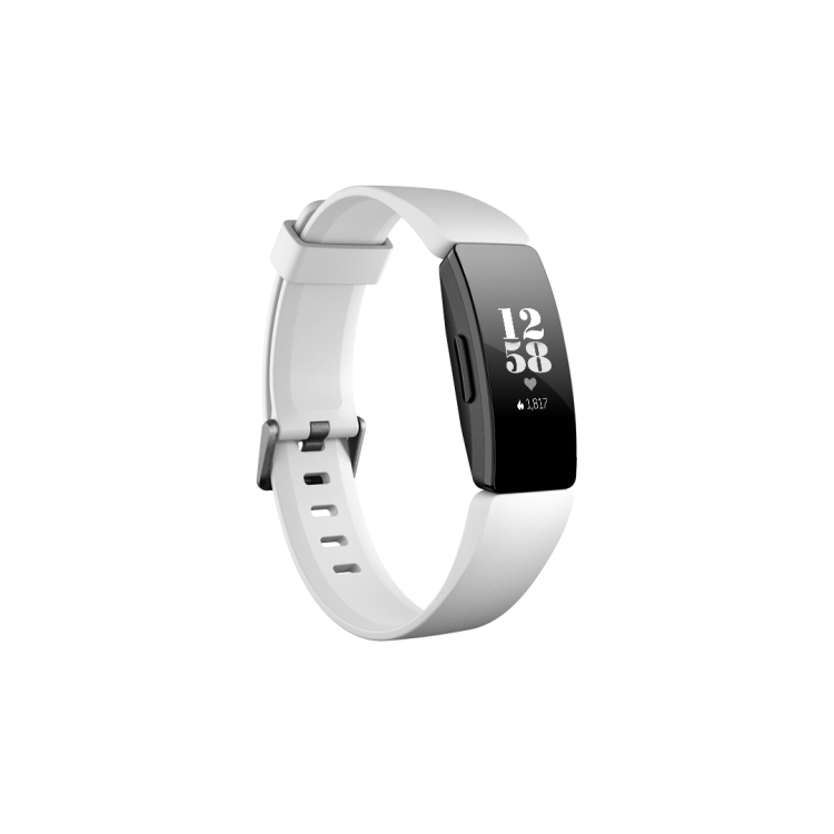 Fitbit Inspire HR Health & Fitness Tracker White Black | 79-FB413BKWT