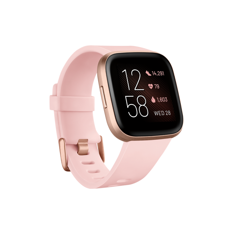 Fitbit Versa 2™ Health and Fitness Smartwatch Petal/Copper Rose Aluminium | 79-FB507RGPK